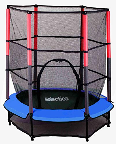 WestWood GALACTICA NEW Mini Trampoline | 4.5FT 55' with Safety Net Enclosure | Indoor Outdoor Children's Activity Junior Trampoline - Blue