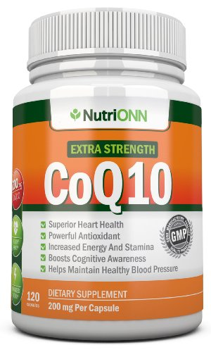 CoQ10 200mg (Double Strength), 120 Capsules - High Absorption Coenzyme Q10 - Scientifically Proven Extra Strength CoQ10 Ubiquinone - 4 Month Supply!