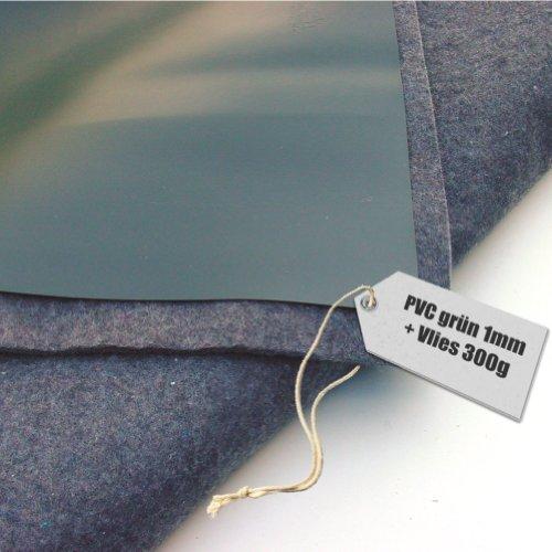 Vijverfolie PVC 1mm olijf groen in 18m x 18m met vlies 300g / m²