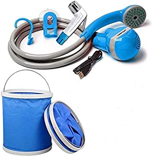 Travel Bidet Hose Spray with Foldable Bucket
