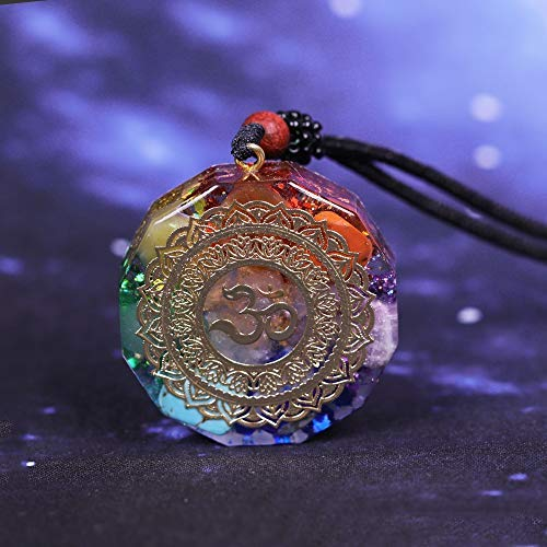 VAWAA Colgante De Orgonita Om Símbolo Collar Chakra Curación Energía Collar Meditación Joyería Hecho A Mano Profesional