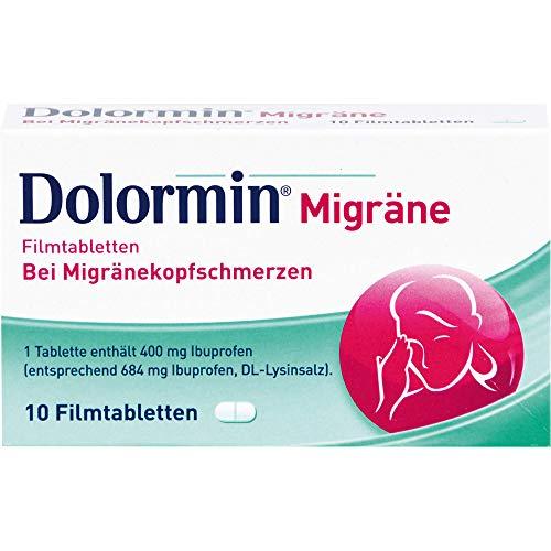 Dolormin Migräne Filmtabletten bei Migränekopfschmerzen, 10 St. Tabletten