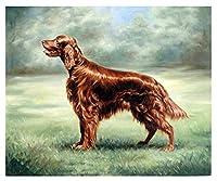 番号キットでペイントアイリッシュセッター犬DIYデジタルキャンバス油絵ギフト子供学生大人大人初心者