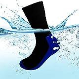 DEKINMAX Calcetines Tobilleros Deportivos Impermeables Transpirables para Hombre y Mujer (Azul-Negro, M)