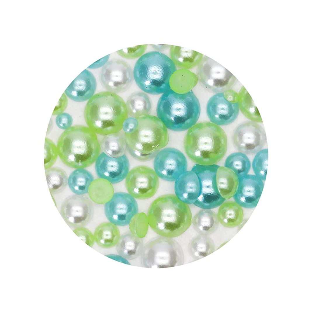 それに応じて家事をする魅力カラフルパールストーン 半球タイプ 【ブルーMIX】