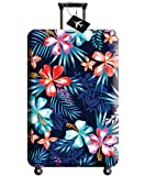 Luggage Cover, THome Protective Washable Suitcase Cover - Travel Elastic Spandex Suitcase Protector with Luggage Tag Fits 26 to 28 Inch Flower