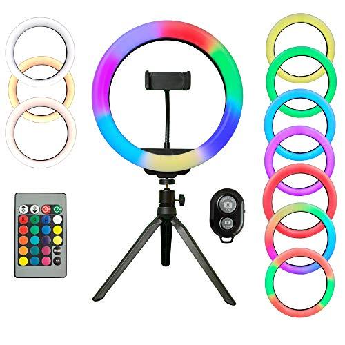 RGB Selfie Ring Light   10-Zoll-RGB-Selfie-Ringlicht mit Fernbedienung & Bluetooth-Verschluss für Fotografie, Selfie & Videoaufzeichnung   LED-Selfie-Licht   Fotografie-Ringlicht