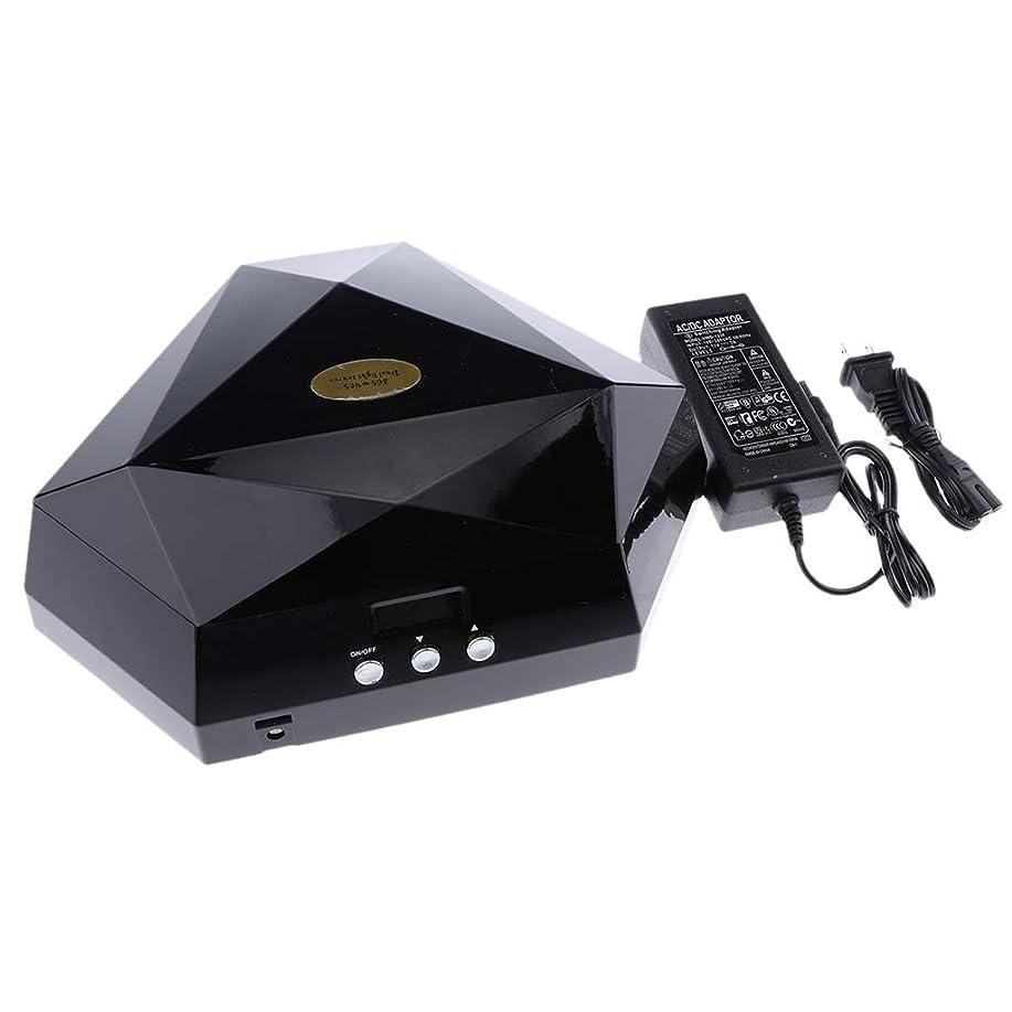 理解申請者酸素B Baosity ネイルランプ ネイルドライヤー 60W ネイル道具 ネイルケア 2色選べ - ブラック