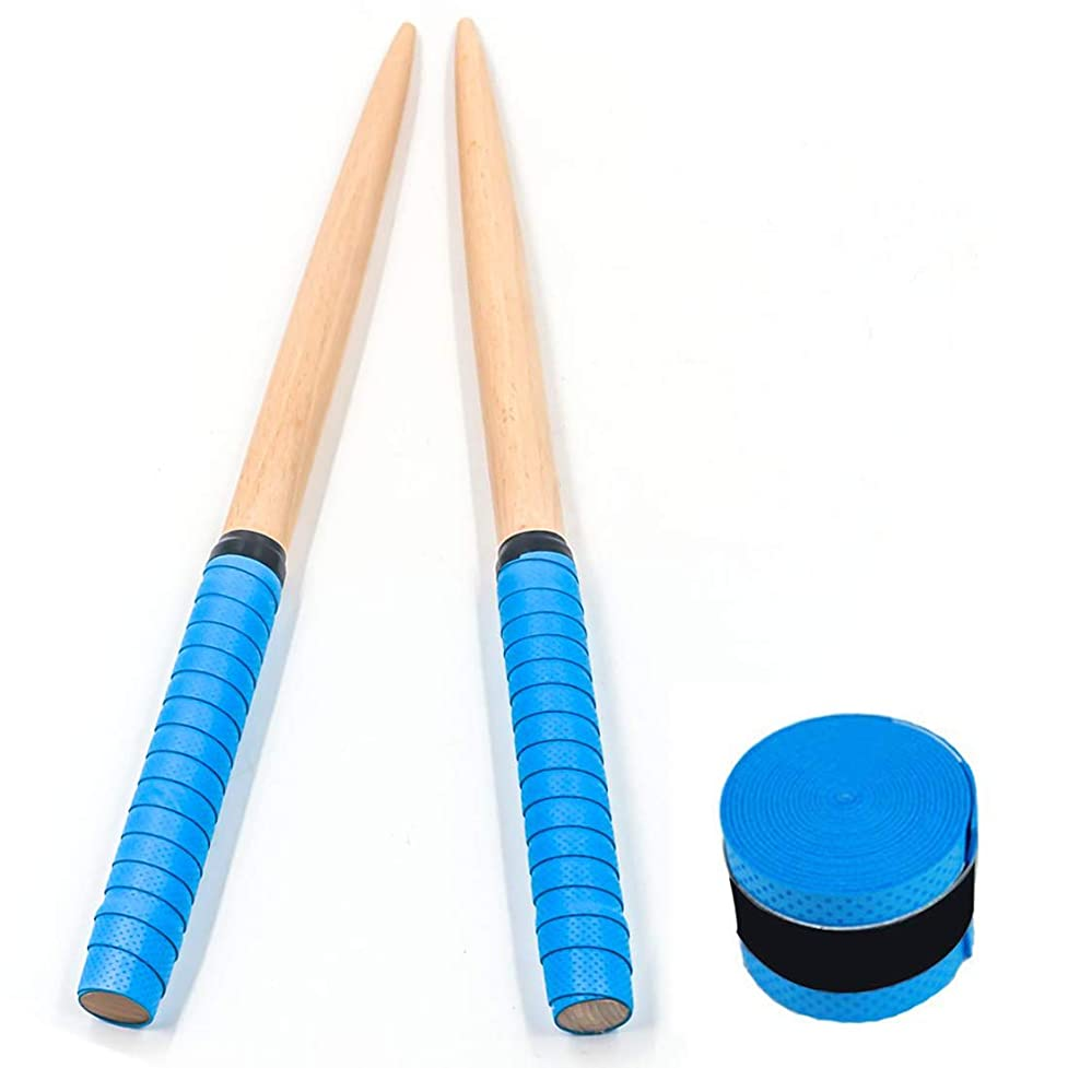 捧げる排出こんにちはShengshou 太鼓の達人 マイバチ ロールダブルストローク専用設計モデル 替グリップセット (ブルー)