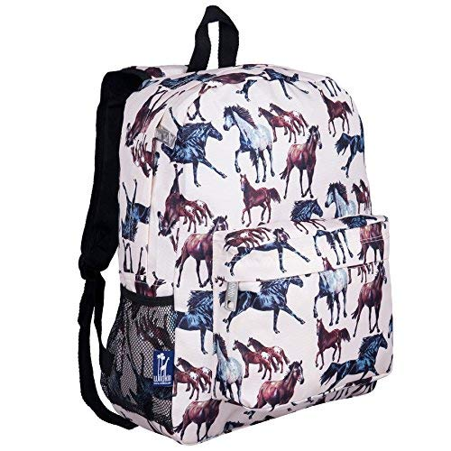 Wildkin 16 Inch Backpack, Durable Backpack with Padded Straps, Front Pocket, Moisture-Resistant Lining, and Two Mesh Side Pockets, Perfect for School or Travel – Horse Dreams by Wildkin