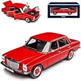 Norev Mercedes-Benz 200/8 Strich Ocho Sedán Rojo W114 W115 Modelo 1967-1976 Versión 2ª Serie 1973-1976 1/18 Modelo Coche