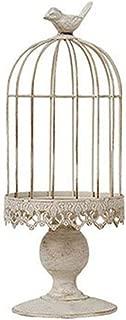 WEISIPU Open Birdcage Candle Holder,Vintage Candle Holder,Wrought Iron Decoration Birdcage Candle Holder,Wedding Romantic Birthday Supplies (Big)