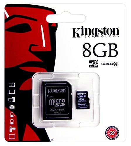 Speicherkarte für Samsung Galaxy Tab A 9,7LTE (sm-t555N), E-Book Readers–Kingston 8GB microSDHC Class 4inkl. SD Adapter–Chip Speicher-, Speichererweiterung.
