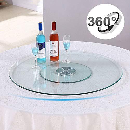 CYGG 60cm Glasdrehteller,Lazy Susan Serviertablett,tablett Mit Service Für Familienessen/Banketttische