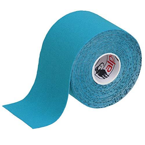 ALPIDEX Kinesiologie Tape 5 m x 5 cm E-Book Anwendungsbroschüre Elastisches Tape im Set 1, 3, 6 oder 12 Rollen, Farbe:hellblau, Menge:1 Rolle