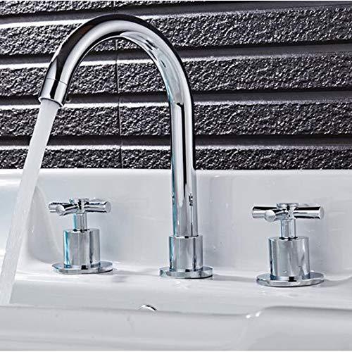 BFLO Küchenarmatur Chrom Massiv Messing Konstruktion Heiß und kalt 8 \'weit verbreitet Becken Wasserhahn Waschbecken Wasserhahn