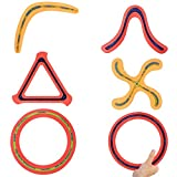 Set of 6 - Sports Flying Aero Discs, Rings and Boomerangs - Sports Game Toy for Kids and Adults