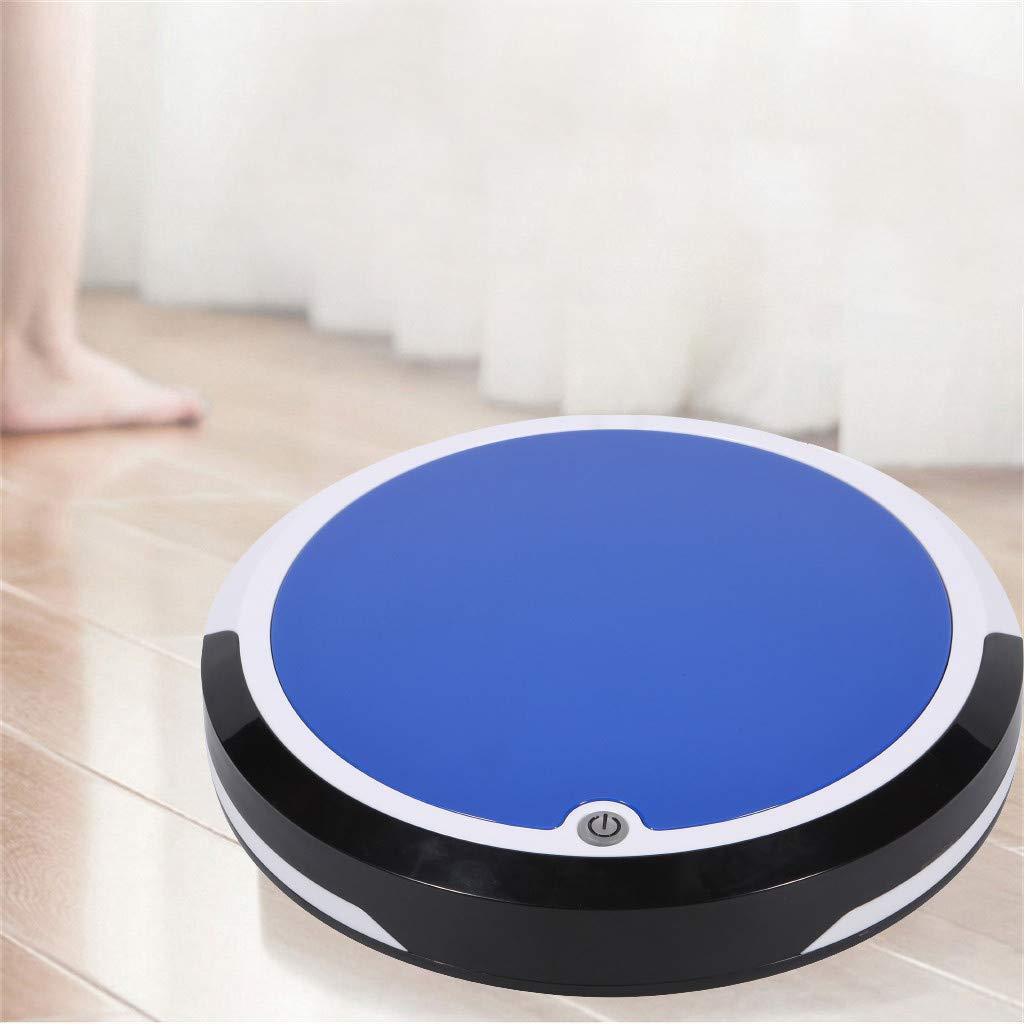 Robot Aspirador y Fregasuelos Robot Recargable Inteligente Aspiradora Barredora de Limpieza de Pisos,1800mAh,batería de Litio 7.4V, Ruido y succión 60DB / 600PA (Azul): Amazon.es: Hogar
