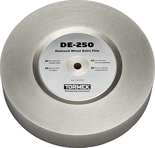 Tormek DE-250 Diamond Wheel Extra Fine Grit 1200 - Leaves an Extra Fine Finish and is Especially Suitable for Carving Tools and Knives - Fits T-8 and T-7