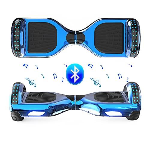 FUNDOT Hoverboards, Hoverboards para niños, Hoverboards autoequilibrante de 6.5 Pulgadas, Hoverboards con Hermosas Luces LED, Hoverboards con Altavoz Bluetooth, Regalo para niños