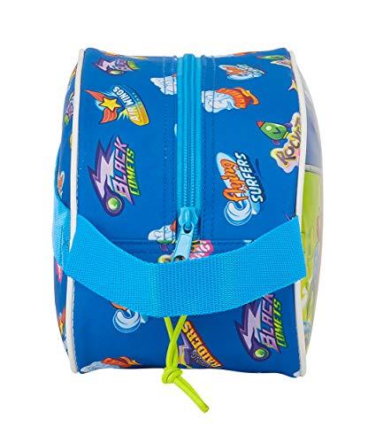 515UFV87qCL - Safta Neceser Escolar Infantil Mediano con Asa de Superzings Serie 5, Azul, 260x120x150mm