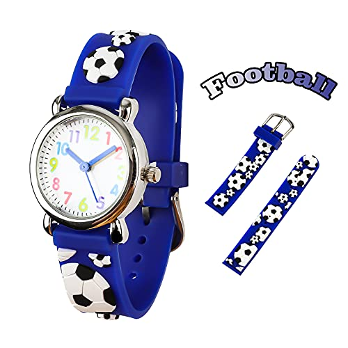 Reloj para Niños de Vinmori, Reloj de Cuarzo Esfera Fluorescente y Velcro de Nylon Impermeable al Aire Libre. Regalo para Chicos, Niños y Niñas
