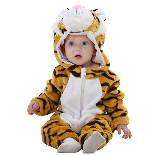 COOKY.D Infantile à Capuche Bébé Barboteuses Doux Flanelle Hiver Animaux Cosplay Costume...