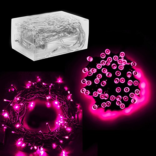 """30 Mini Bulb LED Battery Operated Fairy String Lights in Pink for Valentines Day, Romantic Wedding, Home Decoration Room Lighting, Christmas, Crafts (158"""" inch Long String)"""