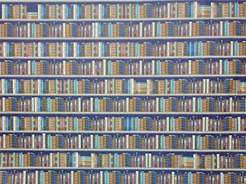 Melody Jane Casa delle Bambole Biblioteca Libreria Carta da Parati Stile Tradizionale Libri