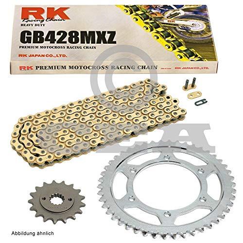 Kettensatz geeignet für Yamaha YZF R125 08-18 Kette RK GB 428 MXZ 132 offen GOLD 14/48