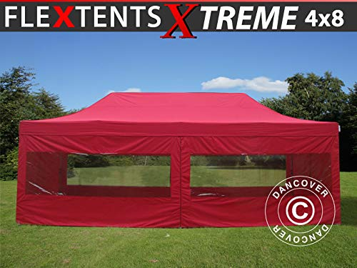 Dancover Vouwtent/Easy up tent FleXtents Xtreme 60 4x8m Rood, inkl.6 Zijwanden