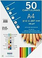 Dohe 30106 - Pack de 50 cartulinas, A4, color blanco