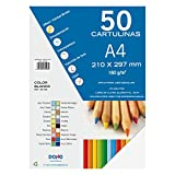 Dohe 30106 - Pack de 50 cartulinas, A4, color blanco...
