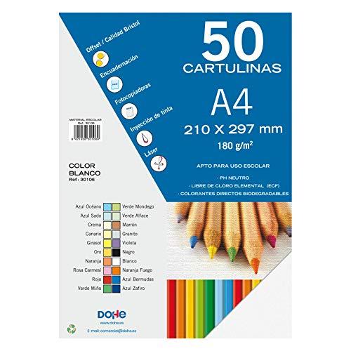 Dohe - Set Di 50 Cartoncini, Formato A4 bianco