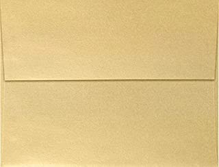 LUXPaper A4 Invitation Envelopes for 4 x 6 Cards in 80 lb.Blonde Metallic, Printable Envelopes for Invitations, 50 Pack, Envelope Size 4 1/4 x 6 1/4 (Blonde)