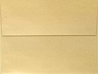 LUXPaper A4 Invitation Envelopes for 4 x 6 Cards in 80 lb.Blonde Metallic, Printable Envelopes for Invitations, 50 Pack, Envelope Size 4 1/4 x 6 1/4 (Blonde)