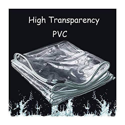 Toldo Clear Tarpaulin Cubiertas vegetales claro de cristal lona impermeable Heavy Duty PVC blando cristal transparente de plástico espesa la lluvia de tela uso en el hogar del parabrisas Aislamiento t