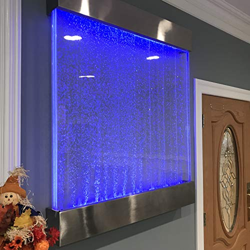 """Jersey Home Decor Bubble Panel XXL 44"""" Tall x 40"""" Wide Wall Hanging Bubble Fountain, Color Lights Remote Ctrl"""