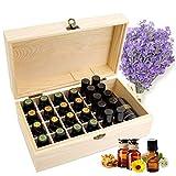 RoseFlower Caja de Almacenaje de Madera de Aceites Esenciales y Aromaterapia, 36 Botellas Aceite Contenedor Cubos de Almacenaje Organizadores para Perfumes, Fragancias, CosméTica, Joyas