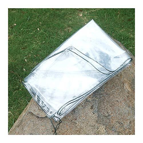 GZHENH Transparent Tarpaulin Waterproof Heavy Duty Outdoor Balcony Windproof Tear Resistance Rain Cloth, 19 Sizes (Color : Clear, Size : 1.8x4m)