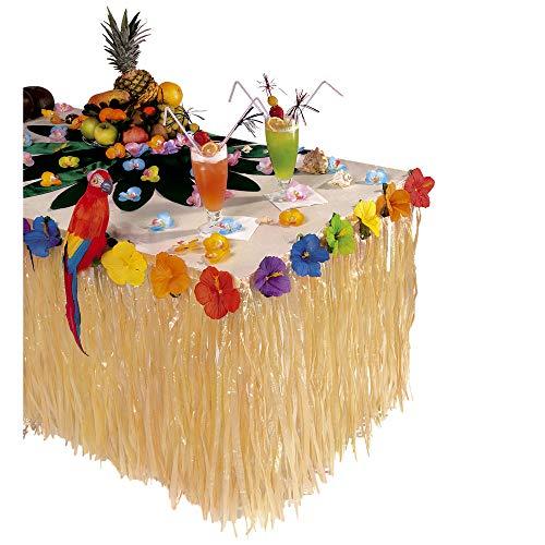Widmann wdm5512s?Déguisement Pour Adultes Deco Table tropicale avec fleurs d'hibiscus, multicolore, Taille unique