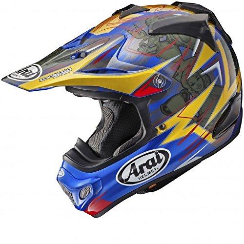 ARAI MX-V - Casco de Motocross (Tamaño Grande, 59-60 cm), Color Azul