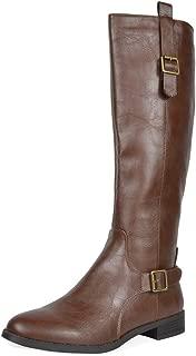 TOETOS Women's Fashion Knee High Riding Boots