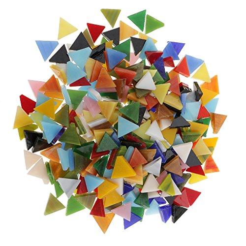 MagiDeal 300 Pcs Carrelage en Mosaïque en Verre Assort pour Bricolage Artisanat 12mm - Triangle