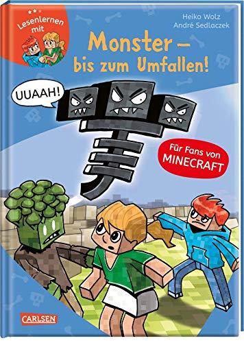 Lesenlernen mit Spaß - Minecraft Band 2: Monster - bis zum Umfallen! Für Fans von Minecraft