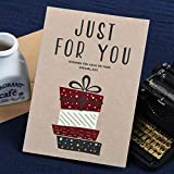 WWEEO Tarjeta de felicitación,8 Piezas Tarjetas de cumpleaños Tarjetas de felicitación de Navidad Feliz Tarjetas de Mensaje de Regalo Fiesta, Wish 1724 II 08