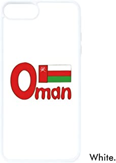 DIYthinker Omán Bandera Nacional Rojo Verde Patrón para iPhone 7/8 Plus Casos Blanco Phonecase Apple Cover Case Regalo, iPhone 7/8 Case