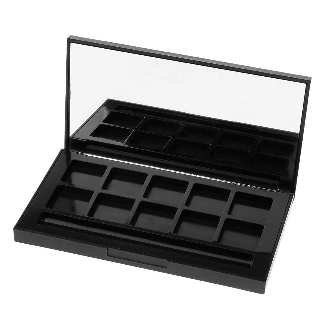 バーマド驚くべきパックKESOTO メイクアップケース アイシャドウパレット リップグロス DIY 2タイプ選べ - 10グリッド