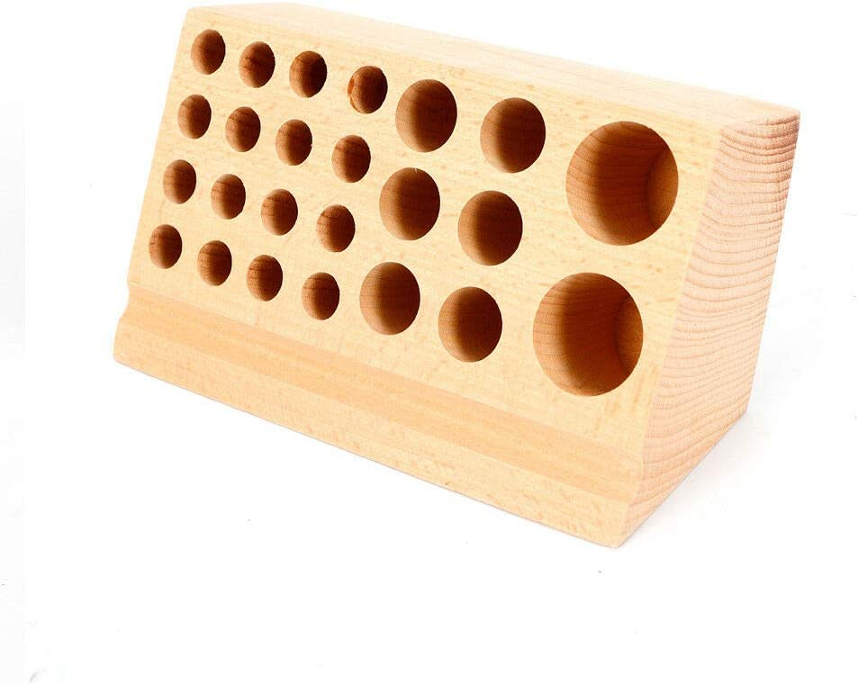 WUPYI 24 Holes Wooden Tool Leather Org Holding Craft Holder Limited Large special price !! time sale