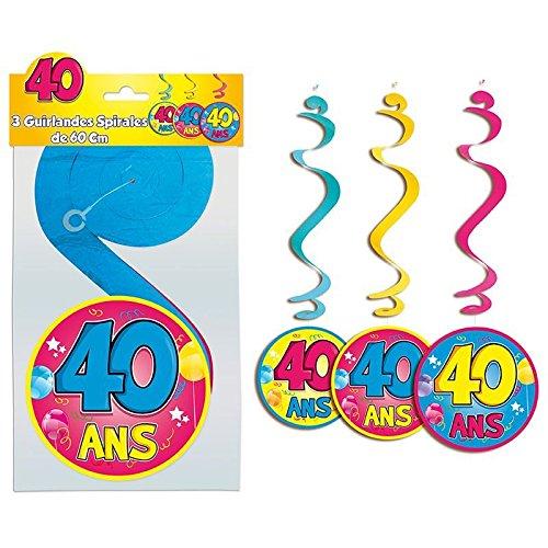 Guirlande Spirale 40 ans
